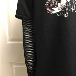 Missguided Tops - Missguided sweat shirt with mesh sleeves size 8
